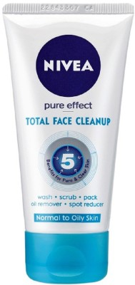 Nivea Total Face Cleanup  Face Wash(50 ml)
