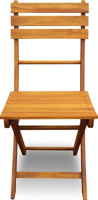 Auspicious Home Juniper Solid Wood Outdoor Chair(Finish Color - Oil, Teak Color)