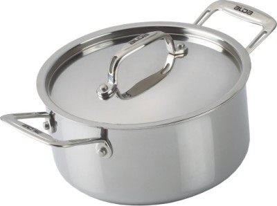 Alda Tri Ply Stainless Steel Casserole with Lid Pot 3.5 L with Lid Stainless Steel, Induction Bottom Alda Cookware Pots