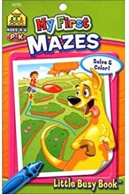 School Zone Sz 1St Mazes Little Busy Size Ea