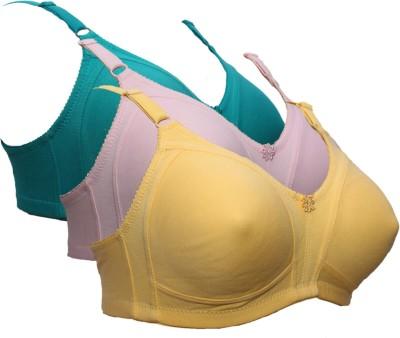 zivok Women Full Coverage Non Padded Bra(Multicolor)