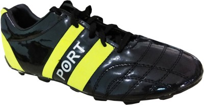 Port StrungDust Football Shoes For Men(Black)