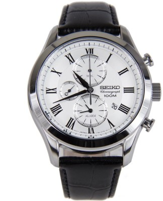 Seiko SNAF69P1 Dress Analog White Dial Men's Watch (SNAF69P1)
