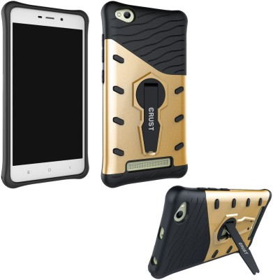 Crust Back Cover for Mi Redmi 4A(Gold, Shock Proof)