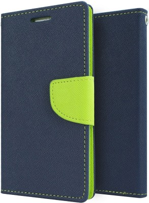 Cafune Flip Cover for VIVO V3(Blue, Artificial Leather)