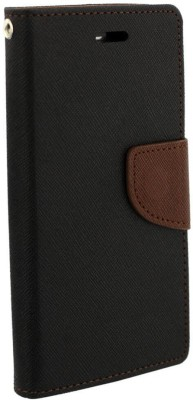 Cafune Flip Cover for Samsung Galaxy J7 - 6 (New 2016 Edition)(Brown, Black, Artificial Leather)