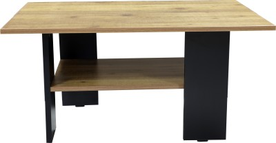 Crystal Furnitech Carson Engineered Wood Coffee Table(Finish Color - knottywood + Black)