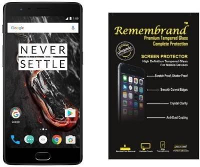 Remembrand Tempered Glass Guard for OnePlus 3T(Pack of 1)
