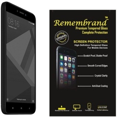 MOBIVIILE Tempered Glass Guard for Mi Redmi 4, Mi Redmi 4X(Pack of 1)