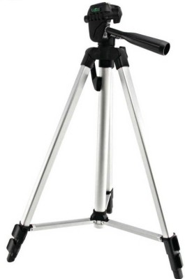Doodads 333 Pro Tripod stand for all digital Cameras & projectors Tripod Kit(Silver, Supports Up to 2000 g)