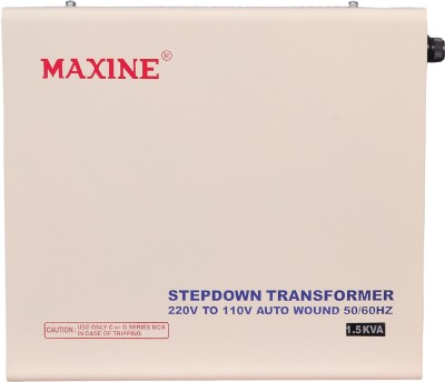 maxine 1.5kva 1500 ( 1.5 Kva) WATTS AUTO WOUND VOLTAGE CONVERTER 220 v to 110 v STEP DOWN TOROIDIAL TRANSFORMER FOR AMERICAN PRODUCTS MAXINE 100% COPPER(White)