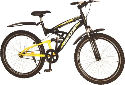 Avon Altair Dual Suspension 26 T Single Speed Mountain Cycle(Black)  available at flipkart for Rs.6599