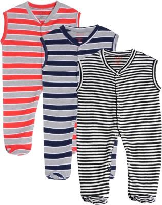 Gkidz Baby Boy's & Baby Girl's Navy Blue Sleepsuit