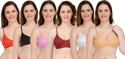 Yana Women T-Shirt Non Padded Bra(Multicolor)