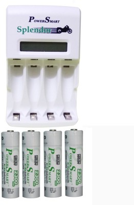 Power Smart PS346 4x2300 mAh Camera Battery Charger(White) 1