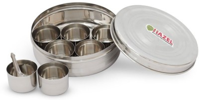 Hazel Masala Dabba  - 1000 ml Steel Spice Container(Silver)  available at flipkart for Rs.549