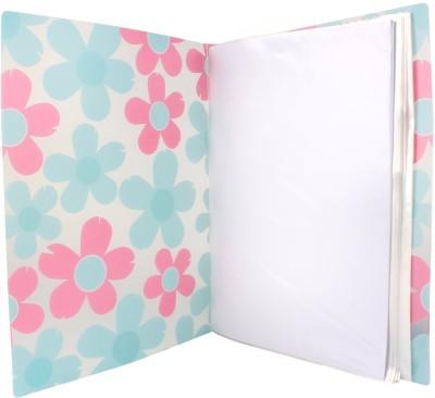TRANBO Plastic Clear Book File Folder Display Presentation Book, 60 Pocket, A4 Size, Pink(Set Of 1, Pink)  available at flipkart for Rs.329