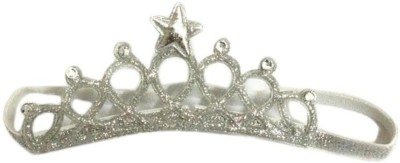 Ziory Silver Baby Girl Baby Boy Unisex Rhinestone Crown Headbands Toddler Princess Hair Accessories Baby Girl's Birthday Gift Tiara Crown Headband Head Band (Silver) Hair Band(Silver)  available at flipkart for Rs.349