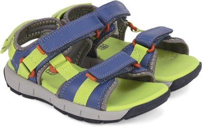 Clarks Boys Velcro Strappy Sandals(Blue)