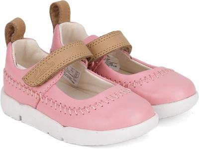 Clarks Girls Velcro Dancing Shoes(Pink)