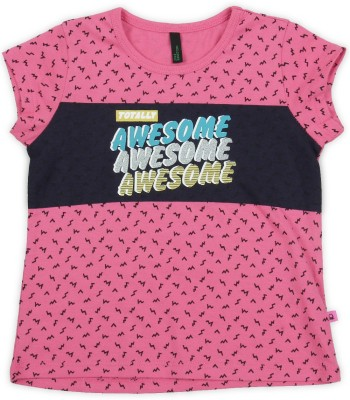 United Colors of Benetton Baby Girls Casual Cotton Blend Top(Pink, Pack of 1) at flipkart