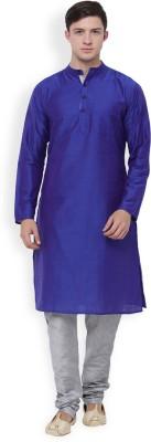 Svanik Men Solid Straight Kurta(Purple) at flipkart