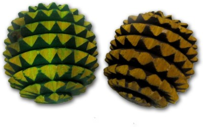 ACM Acupressure Wooden Balls Massage Ball - Size: 5(Pack of 2, Multicolor)  available at flipkart for Rs.105