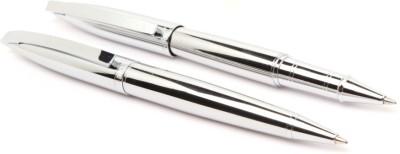 LEDOS JINHAO 156 FULL CHROME DESIGNER ROLLER & BALL PEN NEW Pen Gift Set(Pack of 2)
