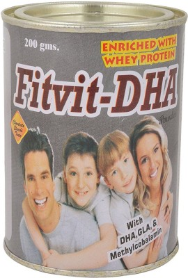 FITVIT-DHA POWDER Whey Protein(200 g, CHOCOLATE)  available at flipkart for Rs.198