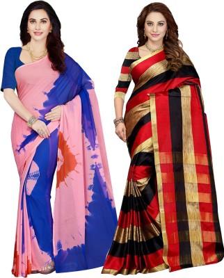 032cb0c8a7 Ishin Woven Bollywood Synthetic Chiffon