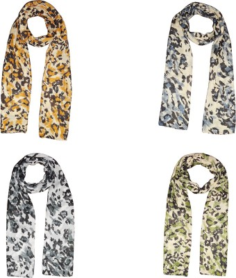 Dream Fashion Printed Poly Cotton Women's Scarf, Stole