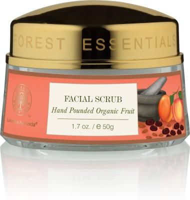 Forest Essentials Facial Scrub Hand Pounded Organic Fruit Scrub, 50 GM