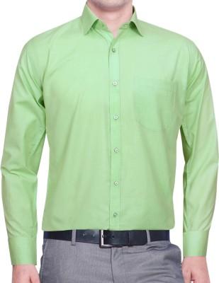 Lamando Men's Solid Formal Spread Shirt