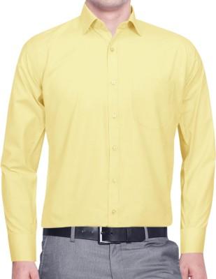 Lamando Men's Solid Formal Yellow Shirt