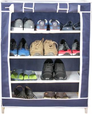 Novatic Plastic Collapsible Shoe Stand(Blue, 4 Shelves) at flipkart