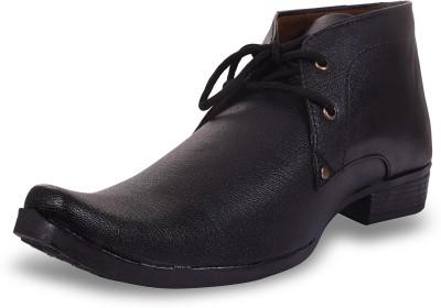 ROAD STAG Men's Formal shoes (Black) Lace Up For Men(Black)