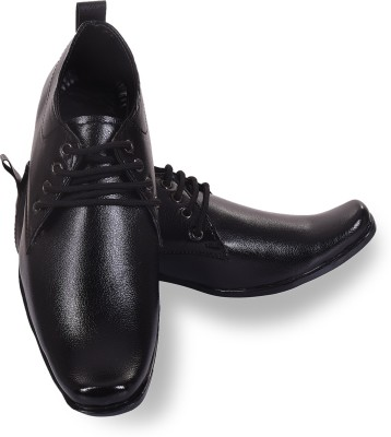 ROAD STAG Men's Office and Party Formal Shoes Lace Up For Men(Black)