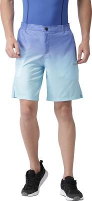 2GO Printed Men Blue Sports Shorts
