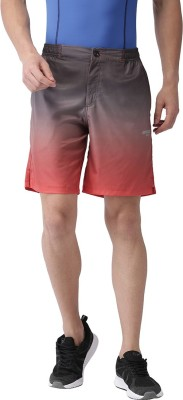 2GO Printed Men Red Sports Shorts