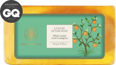 Forest Essentials Luxury Sugar Soap Whole Loofah Scrub Lemongrass(150 g)
