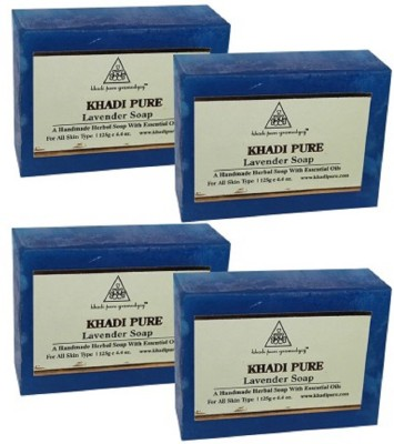 Khadi pure gramodyog LAVENDER SOAP - 125 gm (SET OF 4)(500 g, Pack of 4)  available at flipkart for Rs.245