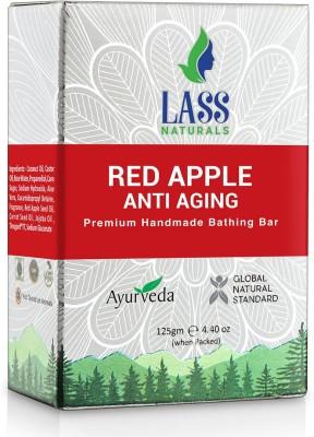Lass Naturals Red Apple Anti - Aging Handmade Premium Bathing Bar 125 gm(125 g)