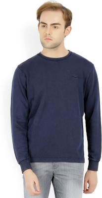 Wrangler Full Sleeve Solid Men Sweatshirt at flipkart