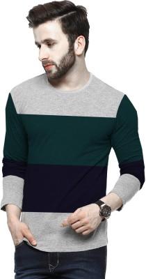 Tripr Solid Men Round Neck Multicolor T-Shirt