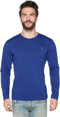 HARBOR N BAY Solid Men's Round Neck Blue T-Shirt