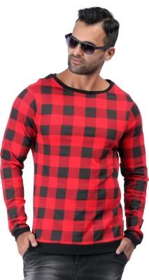 Raymond Checkered Men Polo Neck Red, White T-Shirt