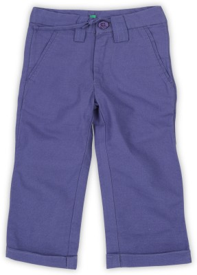 United Colors of Benetton. Regular Fit Purple Trousers at flipkart