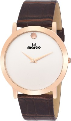 Marco MR-GR-4048-WHT-BRW  Analog Watch For Men