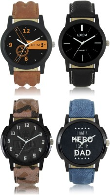 LOREM LR01 03 05 07 New Combo Collection Best Selling Analog Watch   For Boys LOREM Wrist Watches