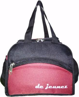 de jeunez de jeunez D4 Black with Maroon Waterproof Lunch Bag Multicolor, 8 inch